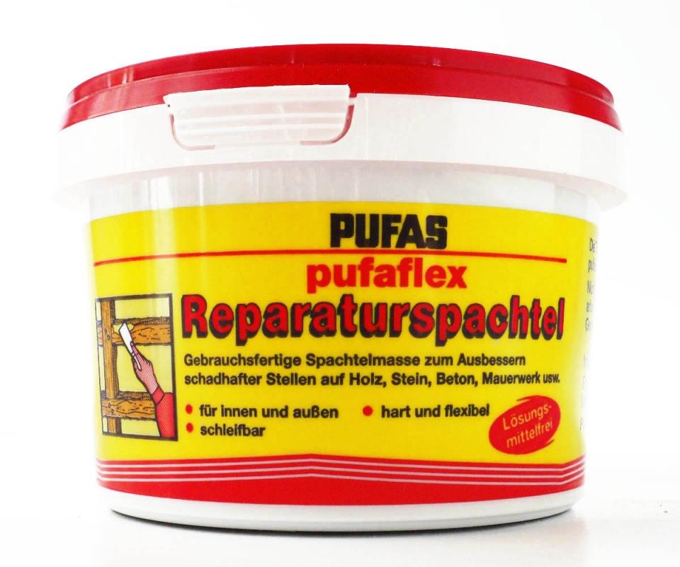 """Stein 750 g Pufas /""""pufaflex Reparaturspachtel/"""" Holz Beton usw"""