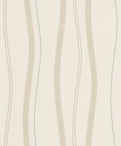 erismann Tapete 5401-02 - Vliestapete mit Streifen / Wellen